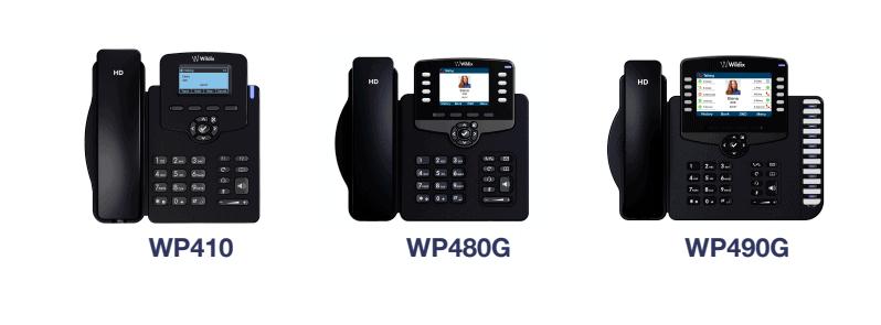 WP410, WP480G, WP490G IP Telefone
